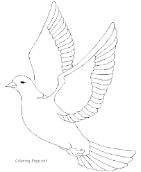 Birds In Flight Colouring Pages