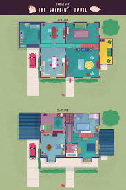 100 Family Guy House Plan Floor Plan Layout And Bonus Cutaway Section View Of The