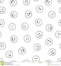 Download Emoji Seamless Pattern Black Stock Vector