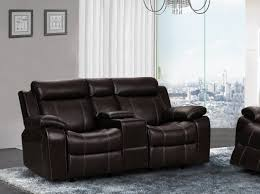 Darrin Leather Reclining Sofa With Console by Leather Reclining Loveseat Abbyson Premium Topgrain Leather