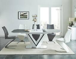 details zu designer tisch esstisch valerio hochglanz standfuss modern tischplatte esszimmer