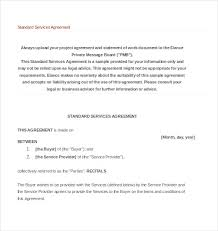 Service Agreement Template 10 Free Word PDF Document Download