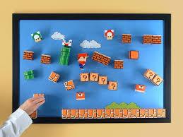 3D Super Mario Papercraft Magnet Board Craziest Gadgets