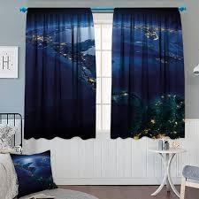 Amazoncom Chaneyhouse World Waterproof Window Curtain Countries Of
