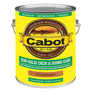 Cabot Semi-solid Deck and Siding Stain - 17417 Redwood