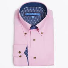 button collar pink shirt mens designer shirts jackett u0026 sons