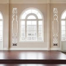 deco porte chambre creative de luxe rétro style 3d décoratif acrylique miroir stickers