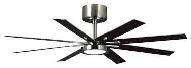 ceiling fan empire 8 blade ceiling fan brushed steel