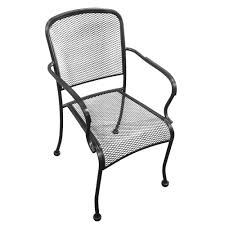 H&D Commercial Seating MC19A Stacking Arm Chair W/ Metal Mesh Back -  Wrought Iron, Black 42 Black Metal Outdoor Fniture Ding Phi Villa 300lbs Wrought Iron Patio Bistro Chairs With Armrest For Genbackyard 2 Pack Wrought Iron Garden Fniture Mainstays 3piece Set Gorgeous Patio Design Using Black Chair And Round Table With Curving Legs Also Fabric Arlington House Chair Commercial Sams Club 2498 Slat At Home Lck Table2 Chairs Outdoor Gray Mesh Back
