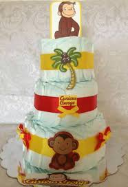 Curious George Toddler Bedding by Curious George Diaper Cake Boy Diaper Cake Baby Shower Gift