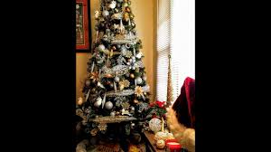 Christmas Tree Decorating Ideas Goldsilverwhite And Black Theme