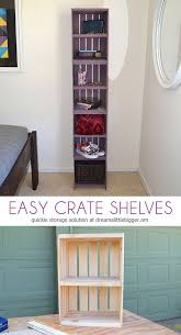 Easily Build Shelves Out Of Crates These Crate Are Functional And Super Pretty