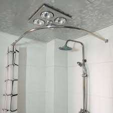 Menards Tension Curtain Rods by Bathroom Alluring Round Shower Curtain Rod Natural Ideas What Can