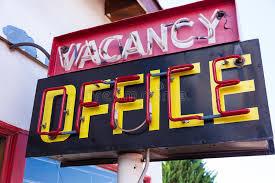 bureau d emploi signe au néon de bureau d offre d emploi de vintage photo stock