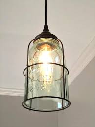 Fun Lighting For Over The Sink Do You Love Mason Jars Here Have A Single Half Gallon Jar With Rust Cage And Bottom Cut Out
