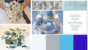 How To Arrange A Winter Blue And Silver Wedding Theme
