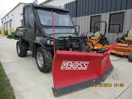 100 Plow Trucks For Sale John Deere Gator 825i With Red BOSS Snowplow John Deere Equipment