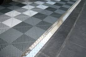using plate transition strips for your garage tile all