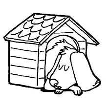 Dog House Coloring Page Download Snoopy Sheet
