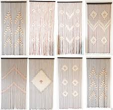 Natural Bamboo Beaded Door Curtain by Silver Beaded Door Window Glamorous Curtain Divider Room Blind