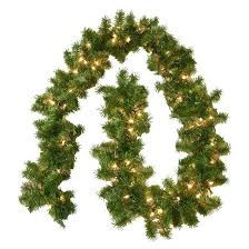 9 Ft Pre Lit Christmas Trees 9 ft pre lit christmas fir garland with clear lights target