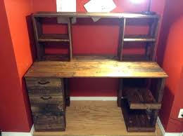desk diy cheap pallet wood computer desk with drawers 30 was all