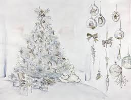 Adorned With Baubles Printed Quotes From Christian Dior Bows And Ornaments In White Gold The Five Metre Tall Tree Is Surrounded By A Cluster Of Gift