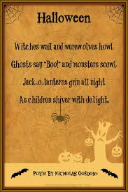 Poems About Halloween For Kindergarten by Trick Or Treat Poems For Halloween Happy Halloween Poems