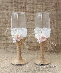 Rustic Country Wedding Glasses Cottage Chic Toasting Mr And Mrs Flutes Bride Groom Chamgpagne