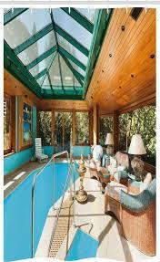 abakuhaus duschvorhang badezimmer deko set aus stoff mit haken breite 120 cm höhe 180 cm modern großer innenpool kaufen otto