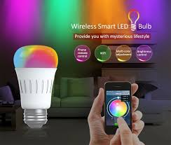 af820 e27 6w smart wifi rgbw led bulb with changing color for