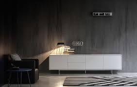 novamobili lowboard in weiss scandinavian living room