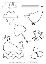 Coloring Pages To Color Blue Worksheets Page Yellow Crayon Sheet Things C Really
