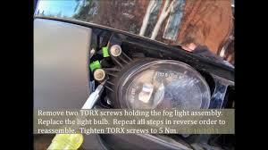 audi a4 fog light bulb replacement