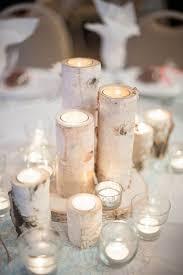 Tidewater Birch Candle Wedding Centerpiece Ideas