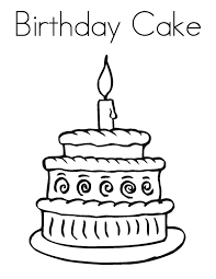 Excellent Birthday Cake Coloring Pages Printable Nice Colorings Design Gallery