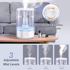 gocheer luftbefeuchter 6l ultraschall luftbefeuchter ätherisches öl diffuser luftbefeuchter mit schlafmodus led anzeige timer 360 rotationsdüse für