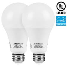 torchstar led dimmable 100w equivalent a21 bulb energy ul