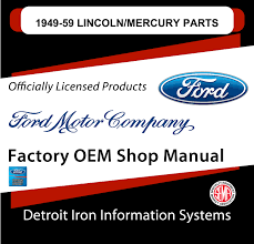 100 1950 Ford Truck Parts 19491959 Lincoln Mercury Manuals On CD Detroit Iron