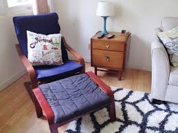 Ikea Poang Chair Cushion And Cover by A Cozy Thrifted Den Mid Century Modern Ization