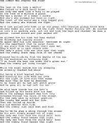 Johnny Cash Song: The Cowboy Who Started The Fight, Lyrics Drivin Aroung Song Colt Ford Ft Jason Aldean Lyrics Youtube Release Date Me And My Old Pickup Truck Lyrics Country Music You With Lewis Round 2 At Pearson Nissan Ocala October 19th 2017 Hurt Christina Aguilera Song In Images 2018 Silverado Chevy Legend Bonus Wheels Groovecar I Want A Cowboy By Reba Mcentire And Chords Two Of Kind Workin On Full House Garth Brooks Girl In Marie Wisehawkins Lyric Video Yeah Tim Mcgraw Zac Brown Band Ram Trucks Launch Letters For Ramzone Goes Online Aoevolution