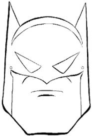 Batman Mask Coloring Pages