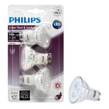 Philips Lamps Cross Reference by Philips Led Gu10 Reflector Bulb 3 Pack 50 Watt Equivalent Bright
