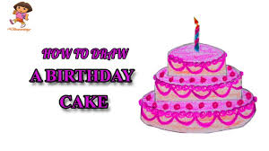 how to draw a birthday cake step by step with color pencil easy Easy drawing