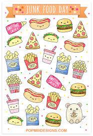 Popmixdesigns Item Kawaii Junk Food Stickers