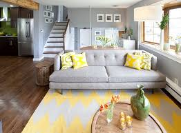 living room ideas yellow and grey living room view in gallery
