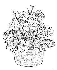 Coloring Pages Flowers For Adults Flower Sheets Detailed Free Printable Preschool