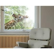 fensterfolie fenstersticker no 302 suchende giraffe fensterbilder größe hxb 30cm x 45cm