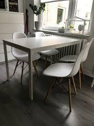 vier vitra charles eames design esszimmer stühle
