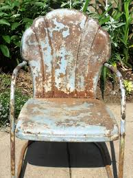How To Tell If Metal Furniture And Decor Is Worth Refinishing | DIY Retro Metal Outdoor Rocking Chair Collectors Weekly Patio Pub Table Set Bar Height And Chairs Vintage Deck Coral Coast Paradise Cove Glider Loveseat Repaint Old Diy Paint Outdoor Metal Motel Chairs Antique And 892 For Sale At 1stdibs The 24 Luxury Fernando Rees Small Wrought Iron Etsy Image 20 Best Amazoncom Lawn Tulip 50s Style Polywood Rocking Mainstays Red Seats 2 Home Decor Ideas